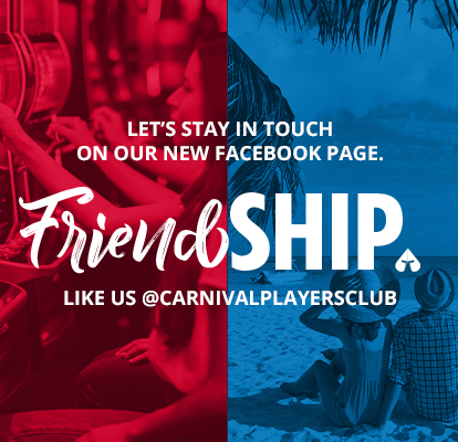 Let's stay in touch on our new facebook page. Friendship. Like us @carnivalplayersclub