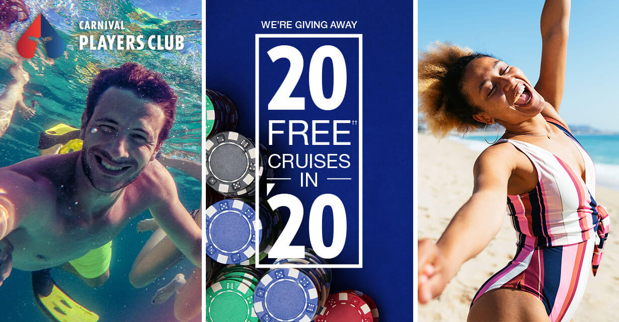 We're giving away 20 free cruises in 2020.